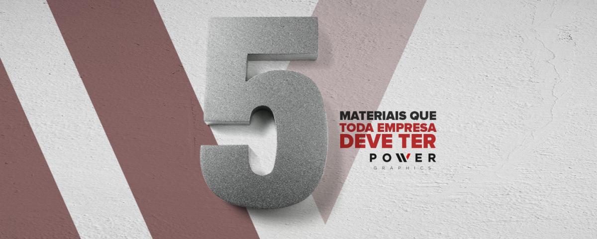 5 Materiais Gráficos